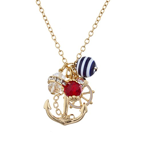 Lux Accessories Goldtone Nautical Necklace product image