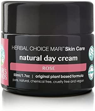 Herbal Choice Mari Natural Day Cream, Rose Like Scent; 1.7floz Glass