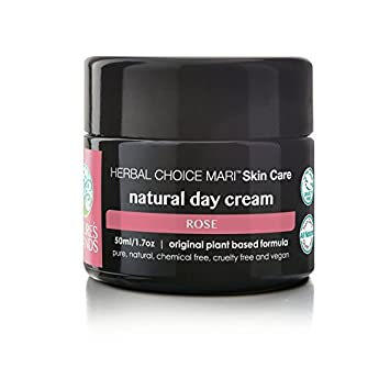 Herbal Choice Mari Natural Day Cream, Rose Like Scent 1.7floz Glass