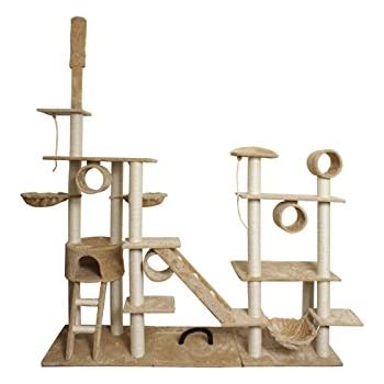 paws  u0026 pals 76  x20  x96   cat tree house w scartching post amazon     paws  u0026 pals 76  x20  x96   cat tree house w scartching      rh   amazon