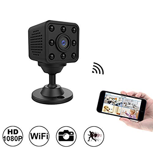 (WiFi Mini IP Cam HD 1080P Portable Cube DV Car DVR with Night Vision,CAMXSW Indoor IP Security Cam Outdoor Sports Cam Pocket Video Recorder Remote View for iPhone Android)