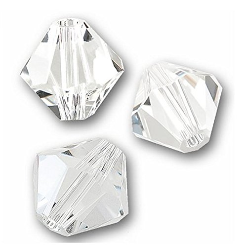 Cube 6mm Crystal Earrings Clear - 20pcs x Authentic 6mm Swarovski Crystals 5328 Xillion Bicone Crystal Beads Swarovski Beads (Crystal clear) #SWA-b601