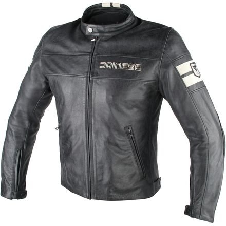 - Dainese HF D1 Leather Jacket (54) (Black/Ice)