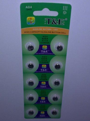 10x-AG-4-Uhrenbatterie-377-626-fr-Armbanduhr-Knopfzelle