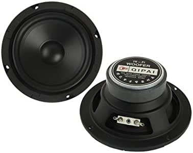 ZMKK External Diameter: 5.5 inch(Black), Inner Diameter: 4.5 inch, Impedance: 8ohm, 30W Midrange Speaker