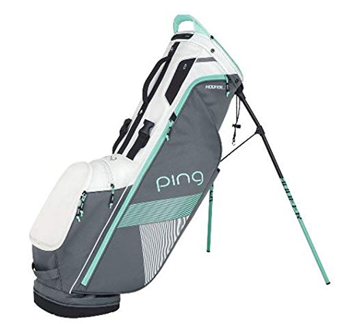 PING Women's 2018 Hoofer Lite Stand Golf Bag (Grey/White/Mint)
