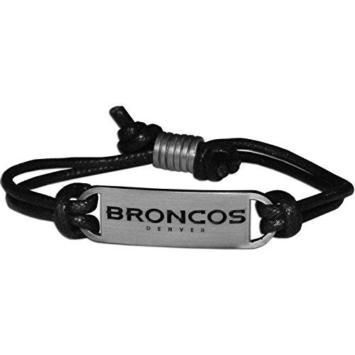 Leather Denver Broncos Bracelets - Siskiyou NFL Denver Broncos Cord Bracelets, Adjustable