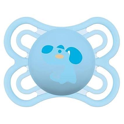 Chupete MAM Perfect 0 m + Silicona perro azul: Amazon.es: Bebé