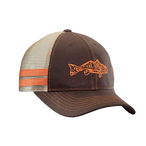 Flying Fisherman Cap (Flying Fisherman Redfish Trucker Hat, Chocolate/Khaki)