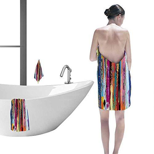 Printsonne Popular Bath Towel Set Abstract with Stripes Fun Hand Towels Set -