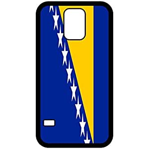 Bosnia And Herzegovina Flag Black Samsung Galaxy S5 Cell Phone Case - Cover by mcsharks