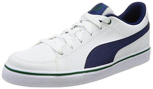 Point Court Puma Vulc BLU PS White Blanco Zapatillas Puma V2 qE71xpdnw