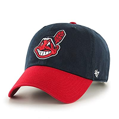 MLB Cleveland Indians '47 Brand Clean Up Home Style Adjustable Cap, One Size, Navy