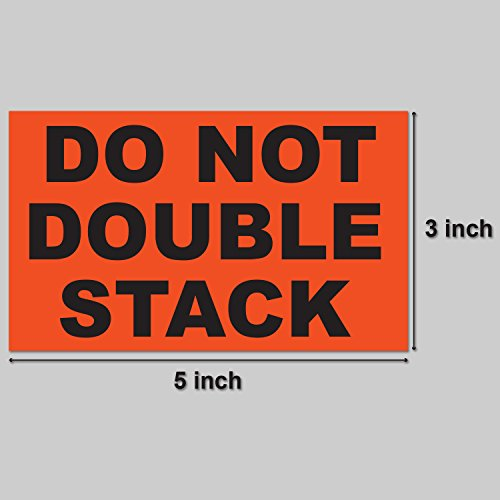 DO NOT DOUBLE STACK Warning Labels Self Adhesive Stickers (Orange Black / 5