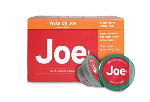 Joes Knows Coffee Single Serve Coffee Pods K Cups (Wake Up Joe, 3 Boxes)