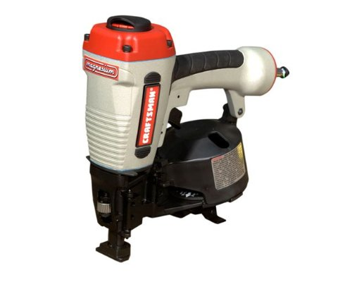 Craftsman 18180 3/4-Inch to 1-3/4-Inch Coil Roofing Nailer with Case