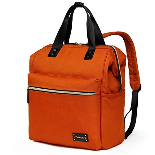 welkey pañal Mochila, bebé bolsa de pañales organizador resistente al agua Oxford tela mochila de viaje con cambiador y correas para el carrito azul azul naranja