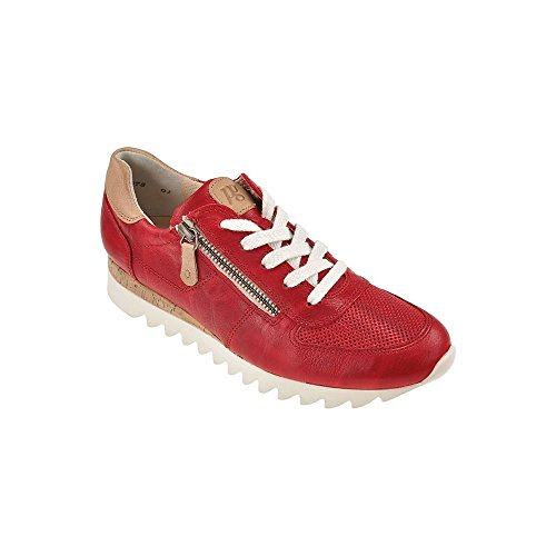 4485 PAUL GREEN TRAINER WITH ZIP Red