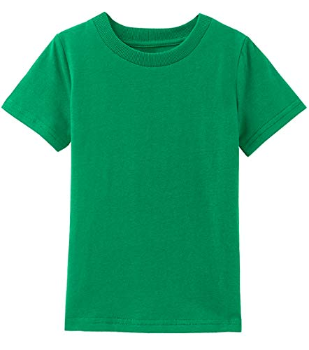 A&J DESIGN Infant Baby Solid Cotton Tee (Green, 12 - Tee T-shirt Baby