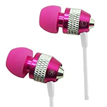 Super Bass Metal In-Ear Noise Isolating 3.5mm Stereo Earbuds/ Headset/ Handsfree for Samsung Galaxy Note 10.1 (2014 Edition) (Hot Pink) + MYNETDEALS Stylus