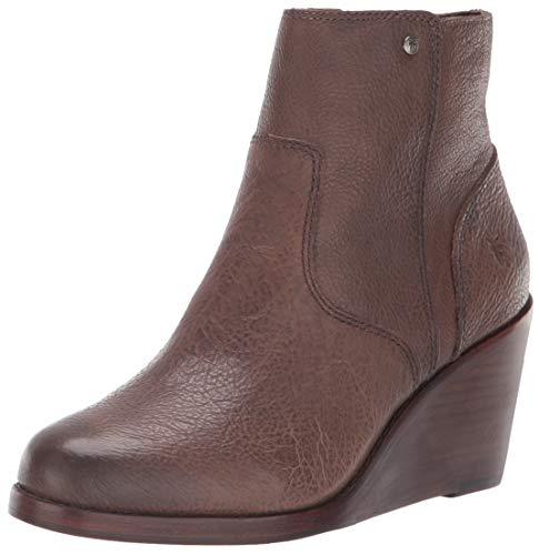 (FRYE Women's Emma Wedge Short Fashion Boot Grey 8.5 M US)