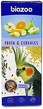 biozoo - Barritas de Fruta & Cereales para Cotorra - Pack 5 Unidades