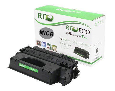 Renewable Toner 80X CF280X Compatible MICR Toner Cartridge for check printing for HP LaserJet Pro Printers 400 M401 M425 Series
