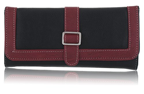 Fantosy Black and Maroon Women's Wallet (FNWC-090)