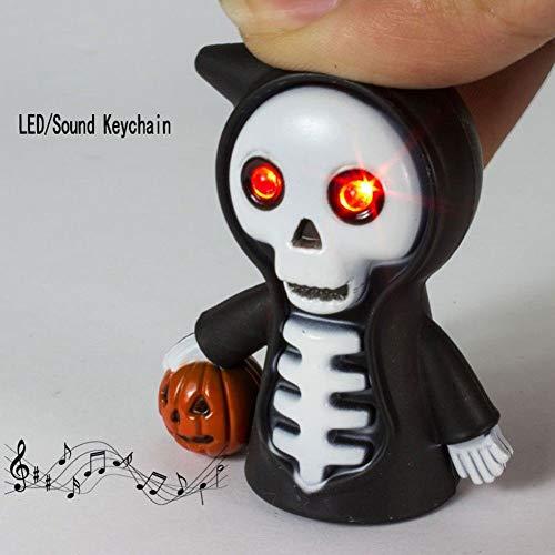 Fashionwu Halloween Scary Skull LED Light & Sound