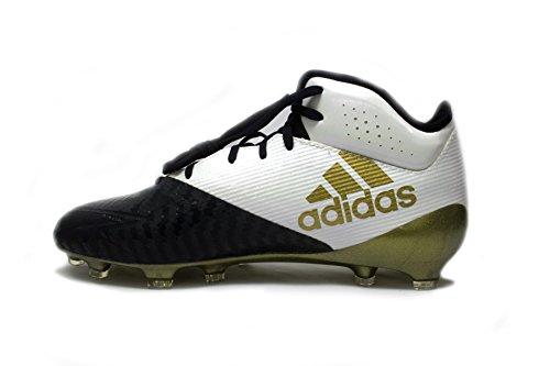 Adidas Mens Sm Adizero 5 Stelle Tacchetti Da Calcio Xx Mid Bianco Bianco / Oro Metallizzato / Freddo Blu Marino