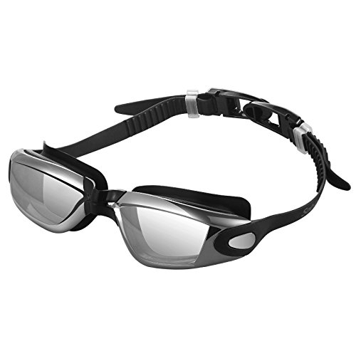 Sable Swim Goggles for Men Women, Swimming No Leaking Anti Fog UV Protection Triathlon Swim Goggles with Protection Case, Adjustable for Adult Youth Kids Child (Sable Water)
