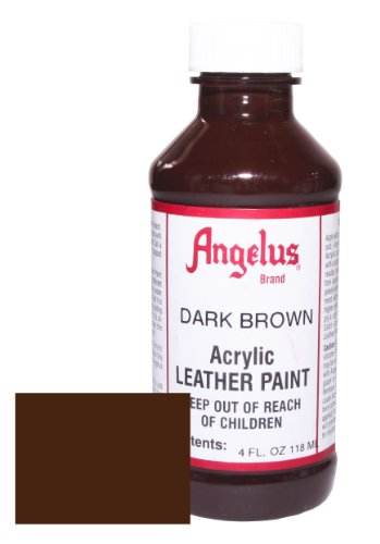 Angelus Acrylic Leather Paint-4oz.-Dark Brown