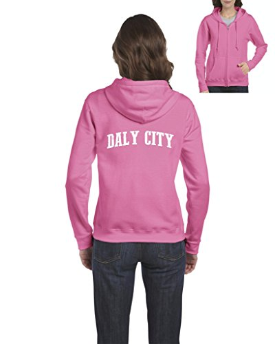 Daly City CA California Map Flag Home Of University Of Los Angeles UCLA USC Womens Sweaters Zip - Shopping City Daly
