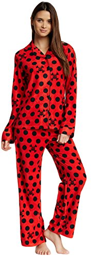 Paul Frank Junior's Pajama Set Fleece Notch Collar Shirt & Pants (Red, - Shop Paul Frank