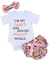 Newborn Baby Girls Clothes Letters Romper...