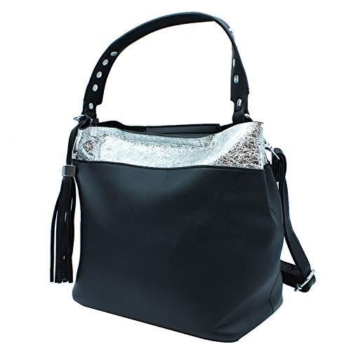 Bolso Misemiya Para 37 Negro Sr 38 Mano d002 Mujer De Shopper 16cm Bolsos qFFxHwrt