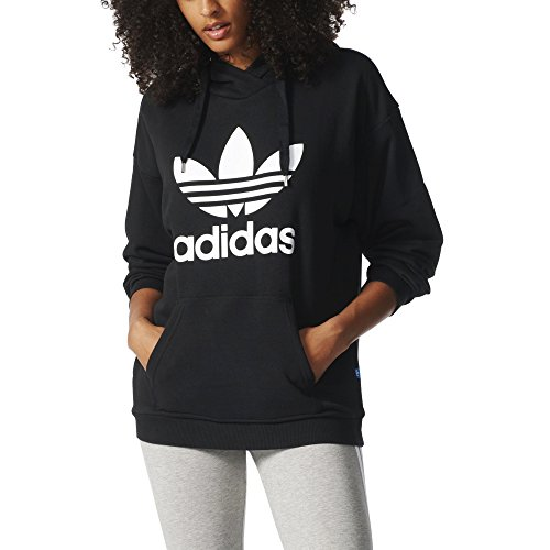 adidas Originals Women's Trefoil Hoodie, Black/White, XS by adidas Originals