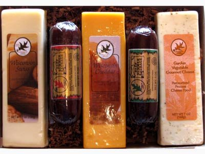 Summer Sausage and Cheese Wisconsin Gift Box