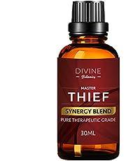 Divine Botanics Master Thief Synergy Blend Essential Oils 30 ml Pure Natural Germ Fighter Undiluted Therapeutic Grade Best Health Shield - Clove Cinnamon Lemon Rosemary Eucalyptus