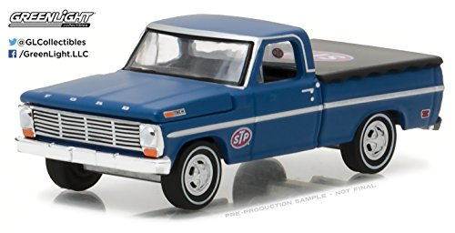 GreenLight 1:64 Running on Empty Series 2 1969 Ford F-100 with Bed Cover Step Diecast Vehicle (Step Car Bed 2)