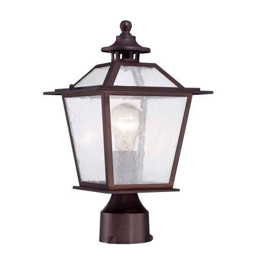 Acclaim 9707ABZ Salem Collection 1-Light Post Mount Outdoor Light Fixture, Architectural Bronze