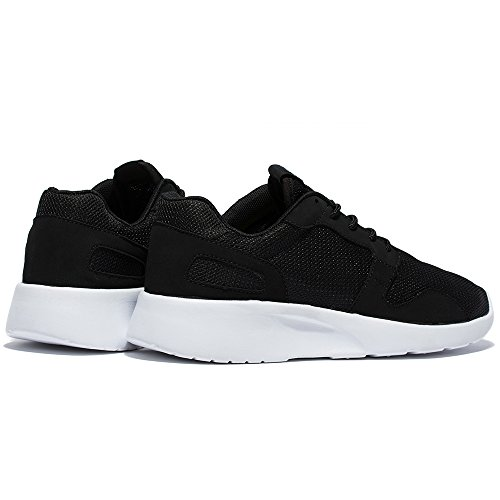 WOTTE Women's Breathable Soft Running Casual Shoes Fashion Lightweight Running Athletic Sneakers (7.5 B(M) US / EU 40, Black)