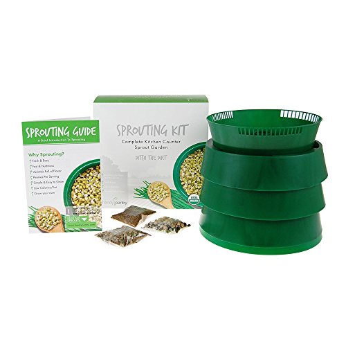 Grow Alfalfa Sprouts - Handy Pantry Sprout Garden 3-tray Sprouter- SG.52 - BPA Free Stackable Sprouting System