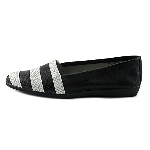 Aerosol Donna Fashion Setter Slip-on Mocassino Nero Bianco Serpente