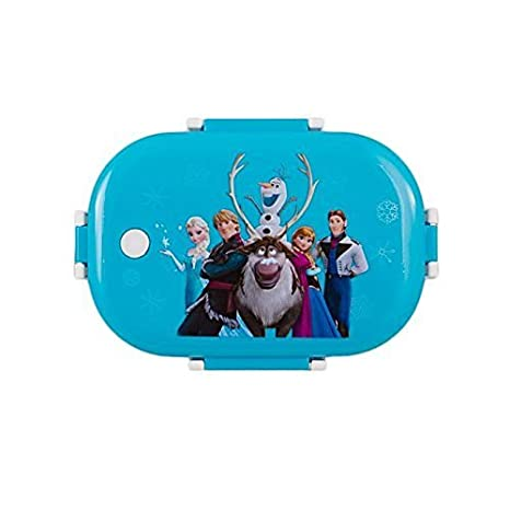 CLOUD 9 Stainless Steel Insulated 2 Grid School Lunch Box with Spoon and Mini Salad Box (Frozen Character)