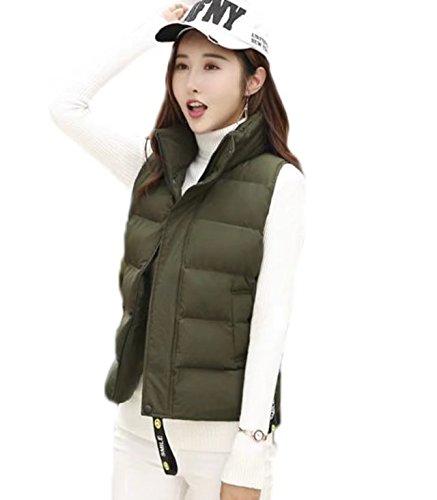 かもめユーザー感情YINGCANレディース ショート ダウンベスト 厚手 柔らかい ノースリーブ ジャケット ゆったり 無地 シンプル 韓国風 アウター