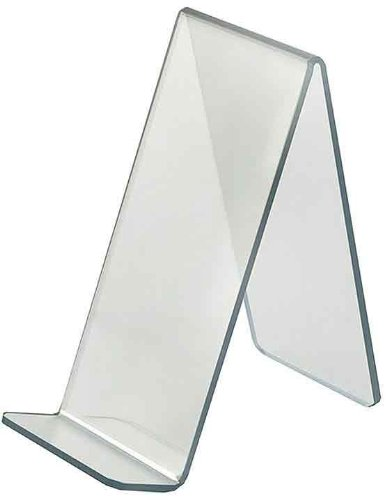 Azar Displays 515435 4-Inch Width by 8-Inch Depth by 8.75-Inch Height Acrylic Easel Display, 10- Pack