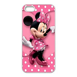 iPhone 5 5s Cell Phone Case White_Mickey and Minnie_001 E0N0J