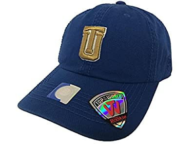 Tulsa Golden Hurricane TOW Youth Rookie Blue Crew Adjustable Slouch Hat Cap from Top of the World