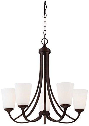 Minka Lavery 4965-284-OB 5-Light Overland Park Chandelier, 26″ x 26″ x 25″, Vintage Bronze Finish For Sale